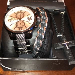 Zoo York watch and bracelet set